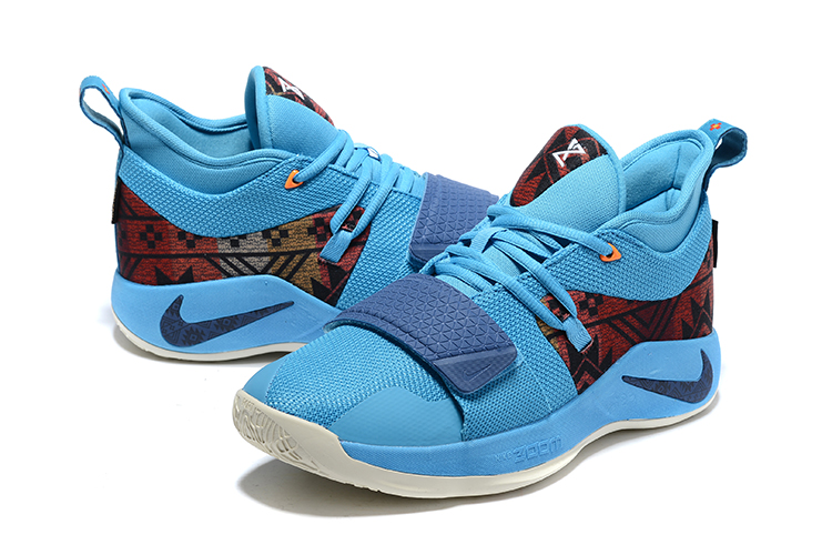 Nike Paul George 2.5 Jade Blue Red