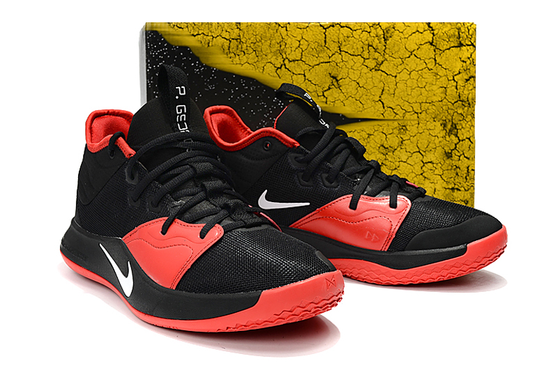 Nike Paul George III Black Red Shoes