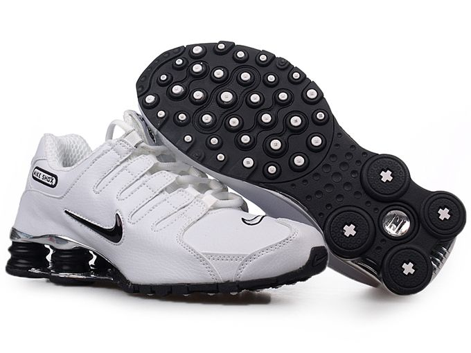 Mens Nike Shox Nz Sl Si Shoes White Black