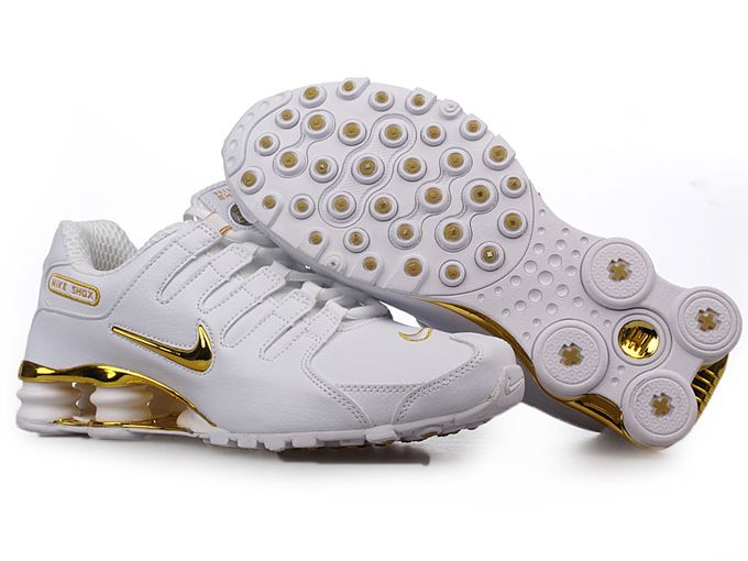 Mens Nike Shox Nz Sl Si Shoes White Golden