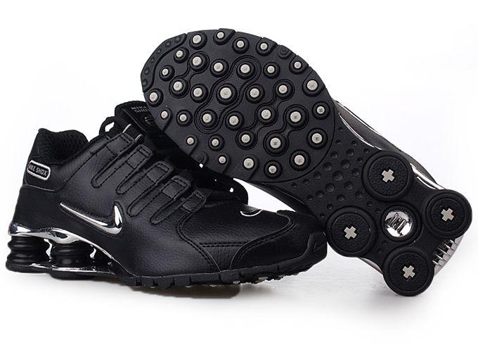 Shiny Black Nike Shox  f4dd04ced