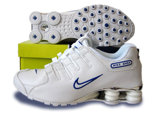 Mens Nike Shox Nz Sl Si Shoes White Blue