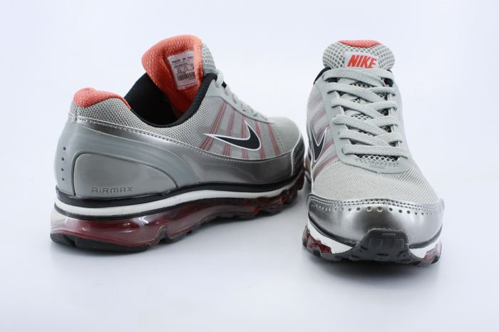Men Air Max 2009 2 Grey Siver Red Shoes