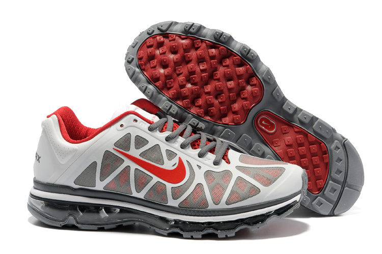Men Air Max 2011 Silver Red Black Shoes