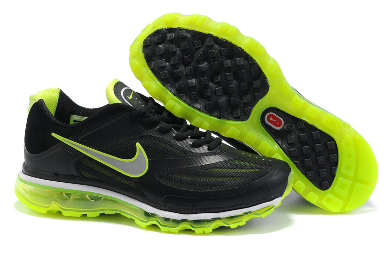 Mens Nike Air Max 2009 Black Green Shoes