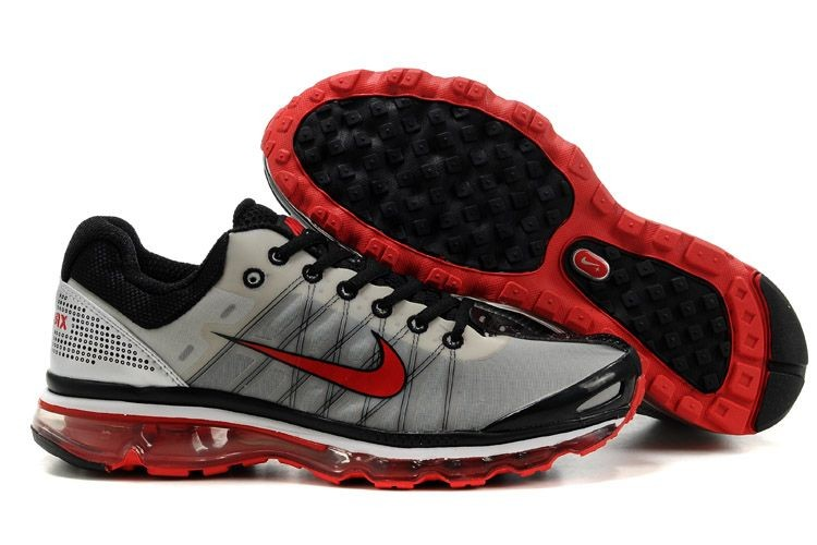 Mens Nike Air Max 2009 Black Grey Red Shoes