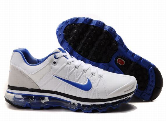 Mens Nike Air Max 2009 Leather White Grey Blue