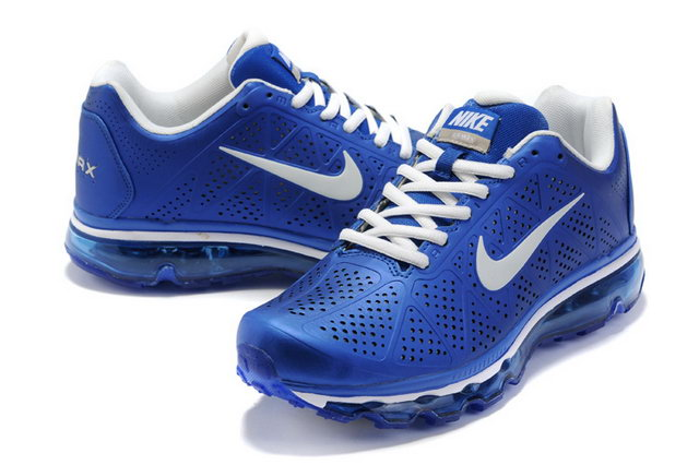 Mens Nike Air Max 2011 In Royal White Shoes