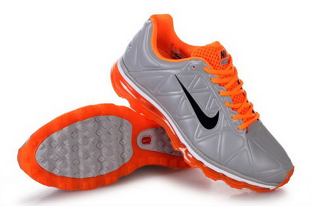 Mens Nike Air Max 2011 Leather Grey Orange