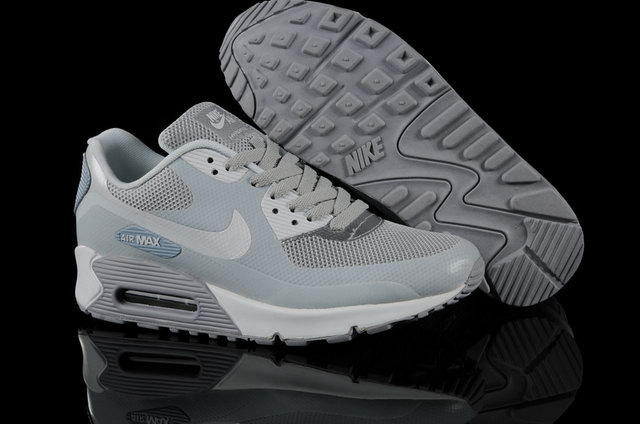 Mens Nike Air Max 90 Hyperfuse Cool Grey Shoes