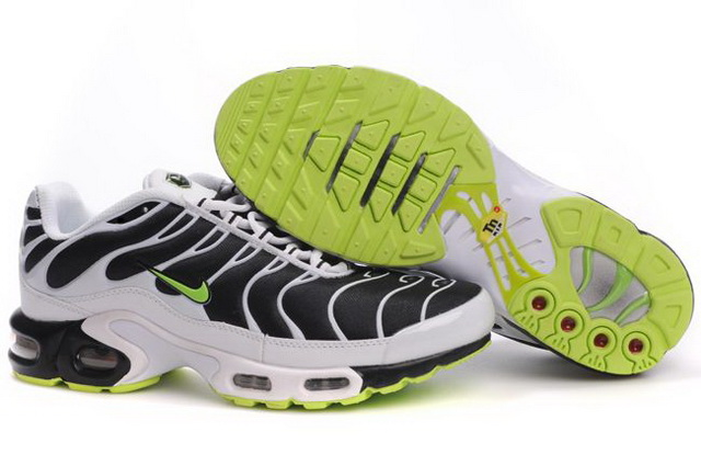 Mens Nike Air Max TN 2010 Black White Green
