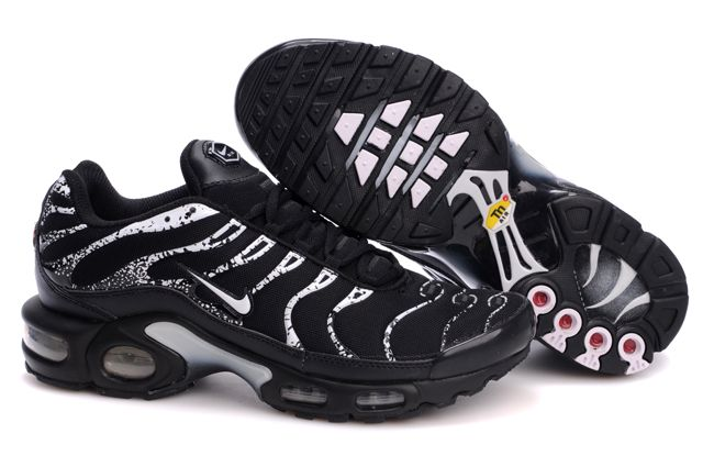 Mens Nike Air Max TN 2010 Black White Shoes