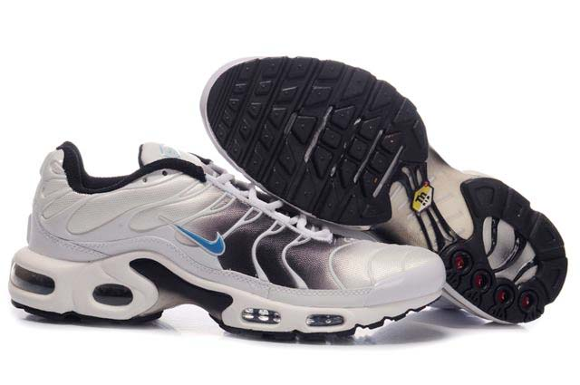 Mens Nike Air Max TN 2010 White Black Blue