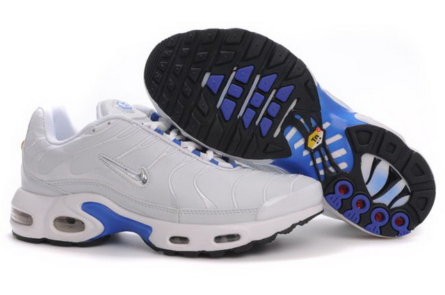 Mens Nike Air Max TN 2010 White Blue Silver