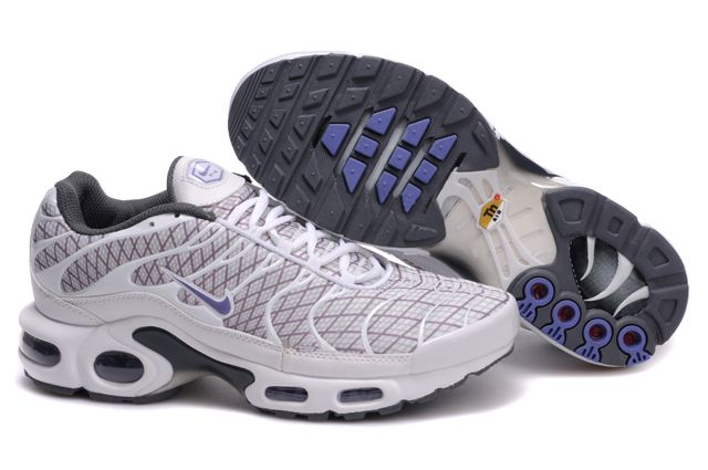 Mens Nike Air Max TN 2010 White Purple Shoes