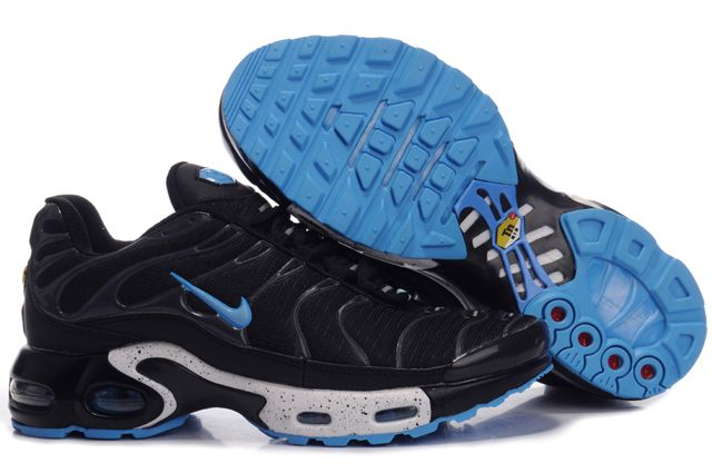 Mens Nike Air Max TN Black Blue Running Shoes