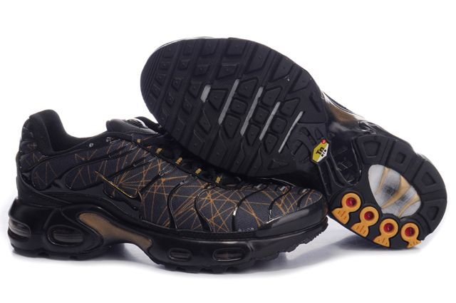 Mens Nike Air Max TN Black Gold Shoes