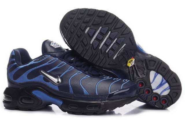 Mens Nike Air Max TN Black Metallic Silver Blue