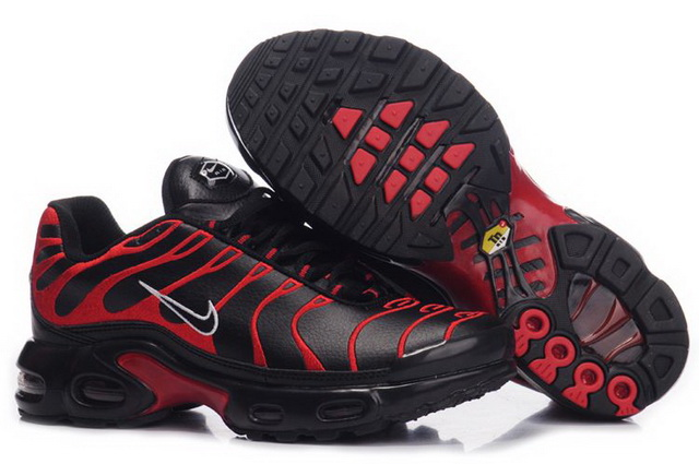 Mens Nike Air Max TN Black Red Patten Shoes