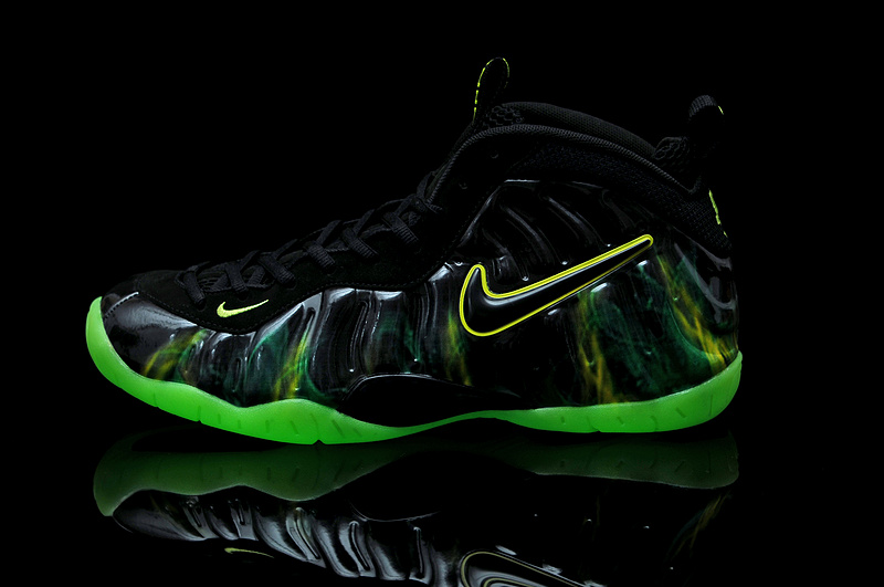 Air Foamposite One Shooting Stars Black Green Shoes