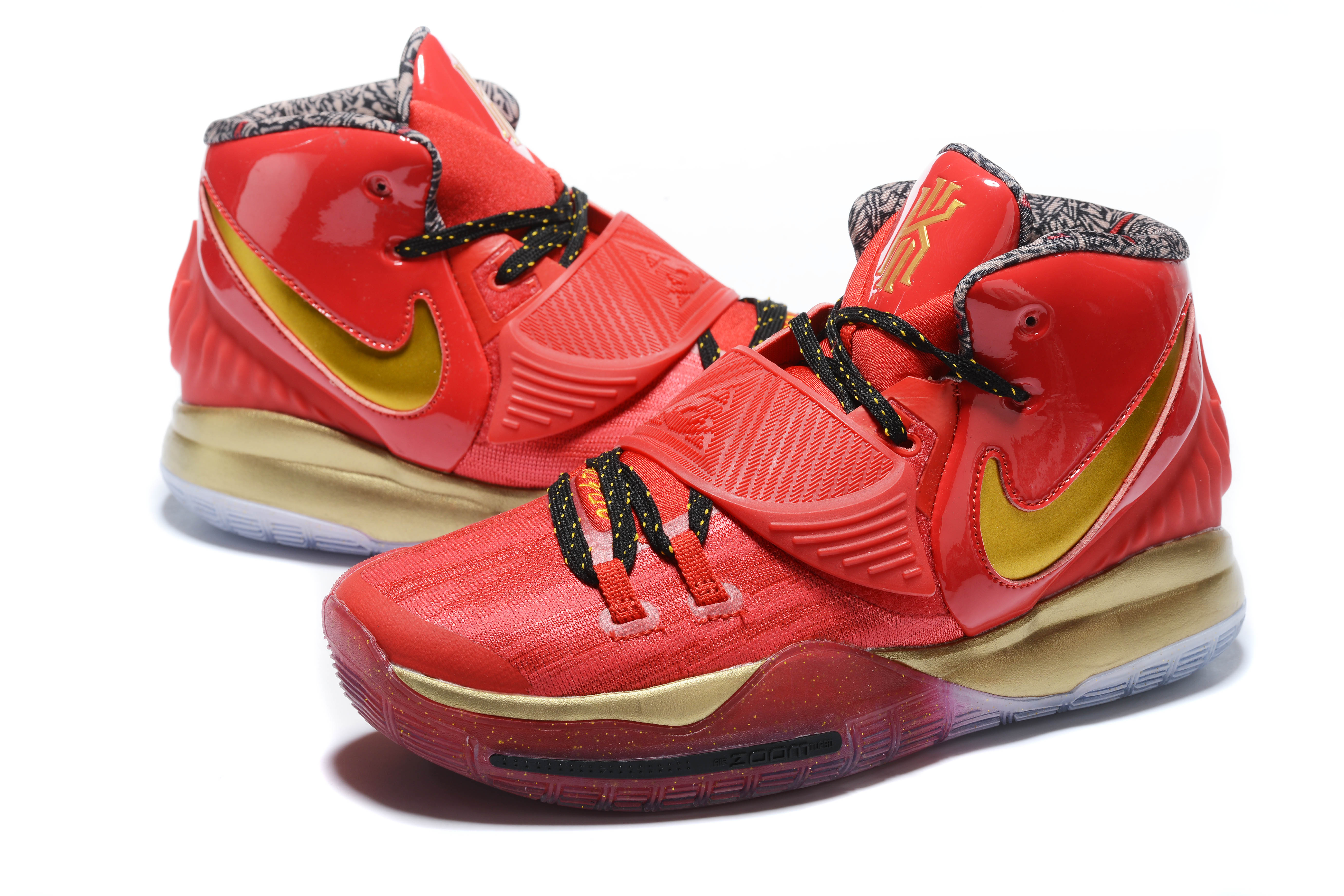 2020 New Nike Kyrie Irving VI All Stars Red Gold