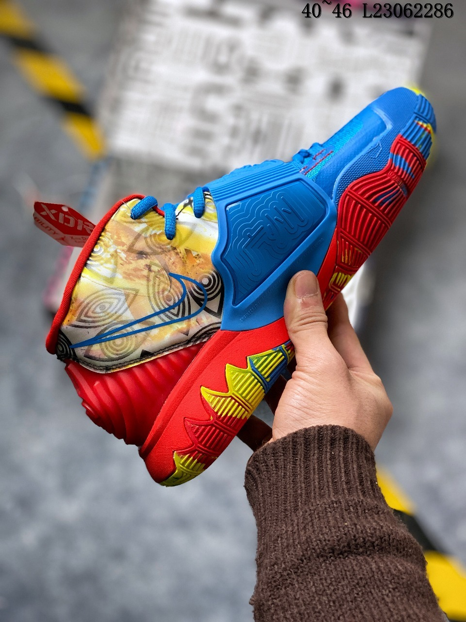 2020 Nike Kyrie 6 Blue Red Yellow
