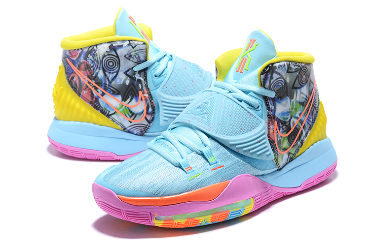 2020 Nike Kyrie Irving VI Jade Blue Pink Yellow