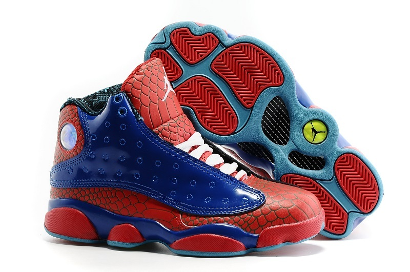 New Nike Nike Air Jordan 13 GS Spiderman Shoes