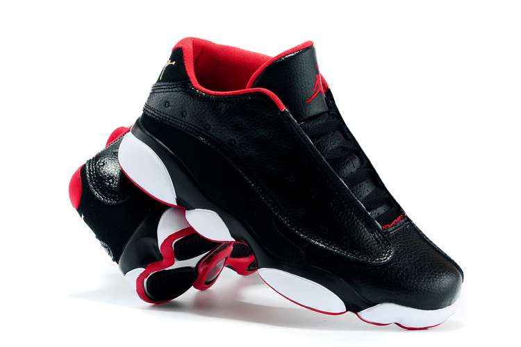 Nike 2015 Air Jordan 13 Low All Star Black Red White Shoes