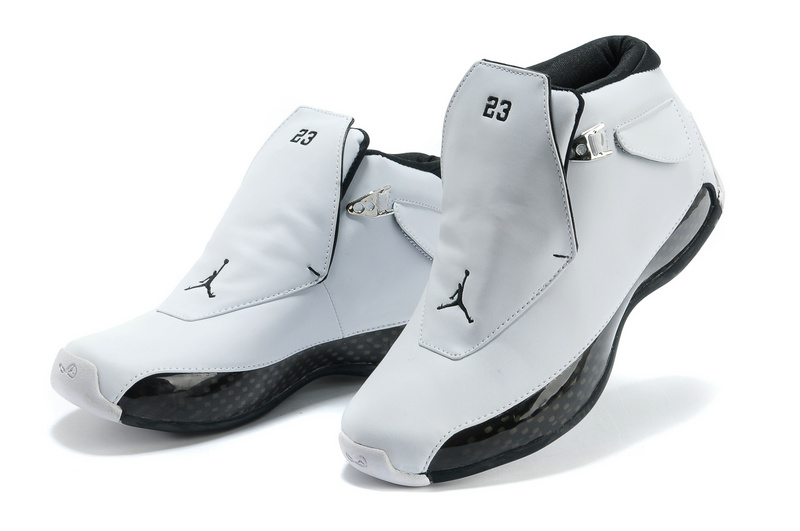 Nike 2015 Air Jordan 18 White Black Shoes