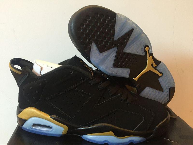 New Women's Nike Air Jordan 6 Low Black Gold