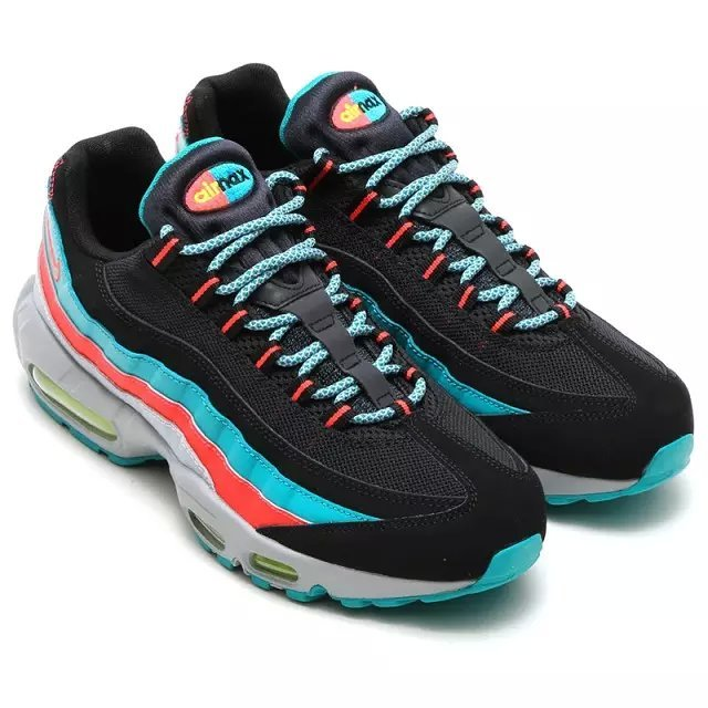 New Air Max 95 Black Red Blue