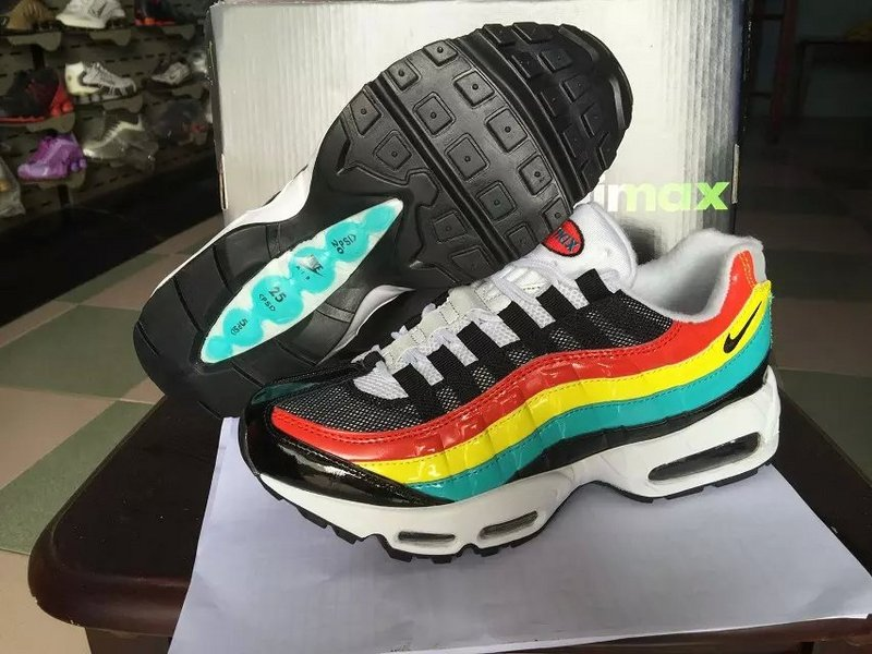 New Air Max 95 Black Red Yellow Green