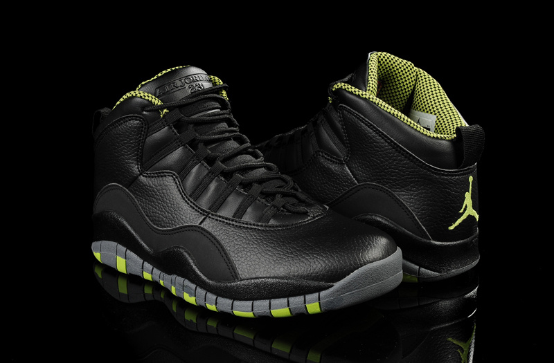 New Air Jordan 10 Black Green Shoes