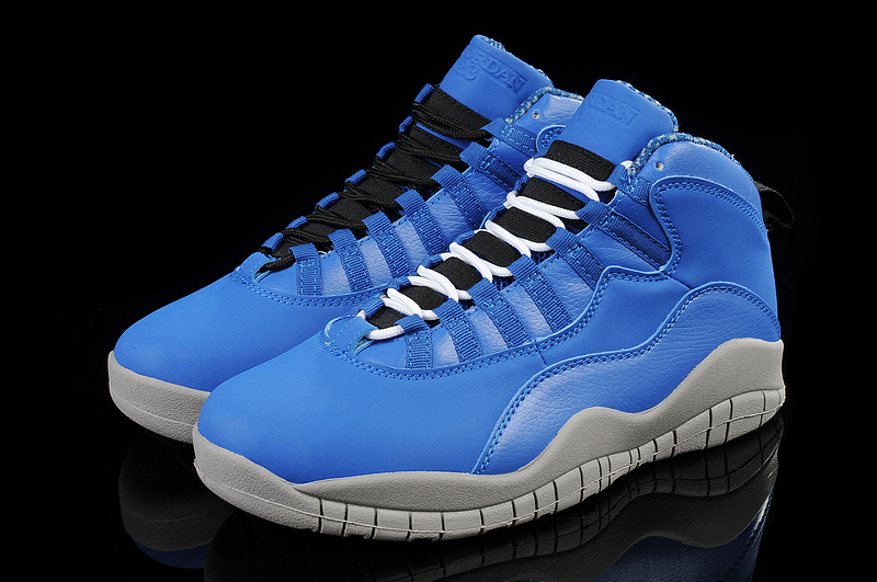New Air Jordan 10 Blue Grey Shoes