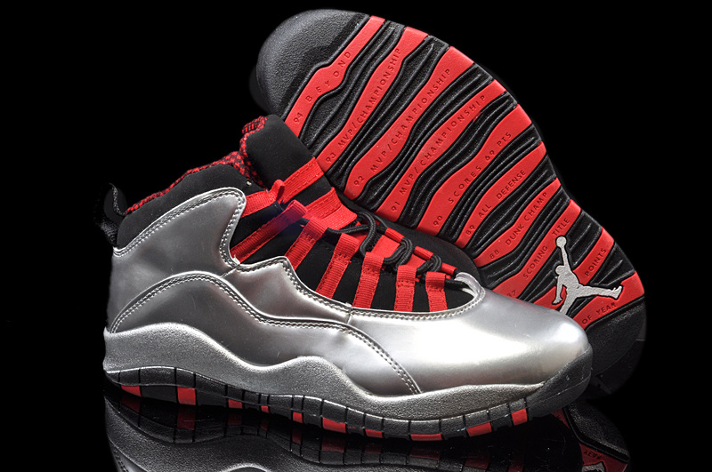 New Air Jordan 10 Retro Brown Black Red Shoes
