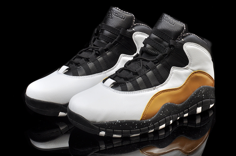 New Air Jordan 10 Retro Grey Black Brown Shoes