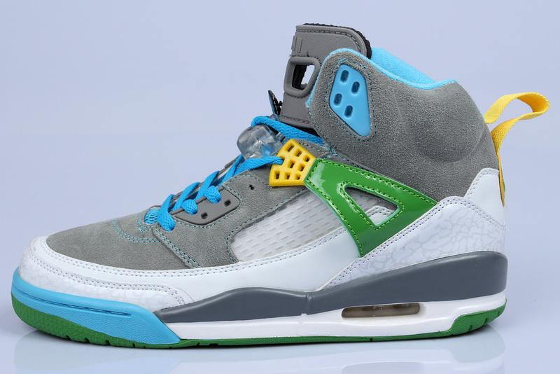 Nike Jordan 3.5 Suede Grey White Green Blue Shoes