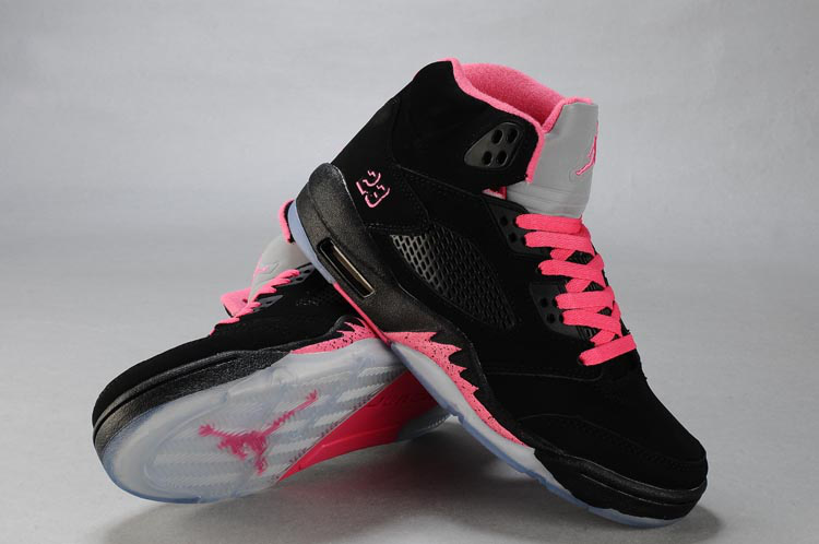Nike Jordan 5 Retro Black Pink White For Women