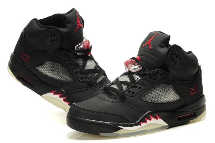 Nike Jordan 5 Retro Black Red White For Women