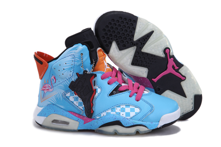 Nike Jordan 6 Blue Pink White For Women