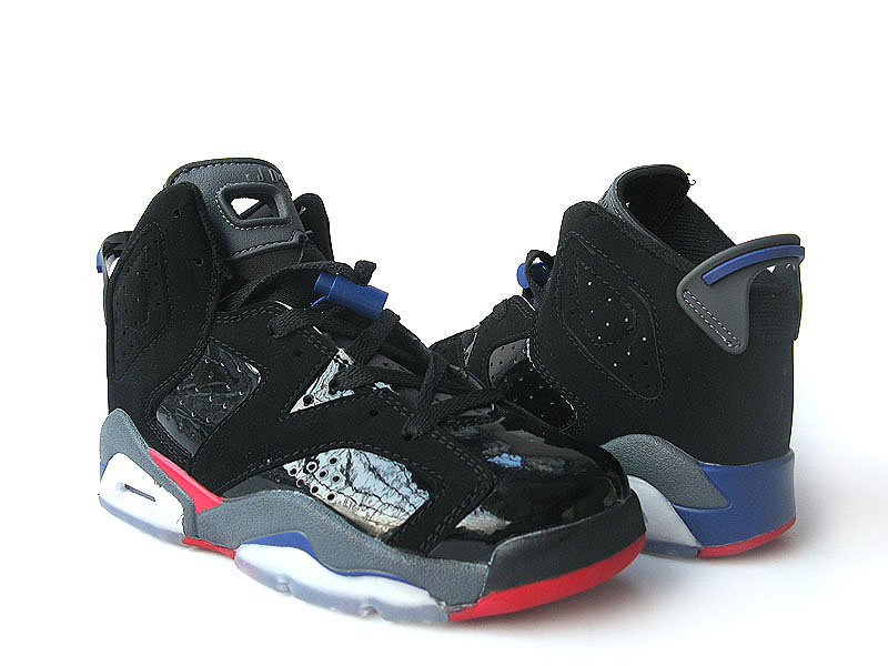 Nike Jordan 6 Retro Black Grey Red For Women