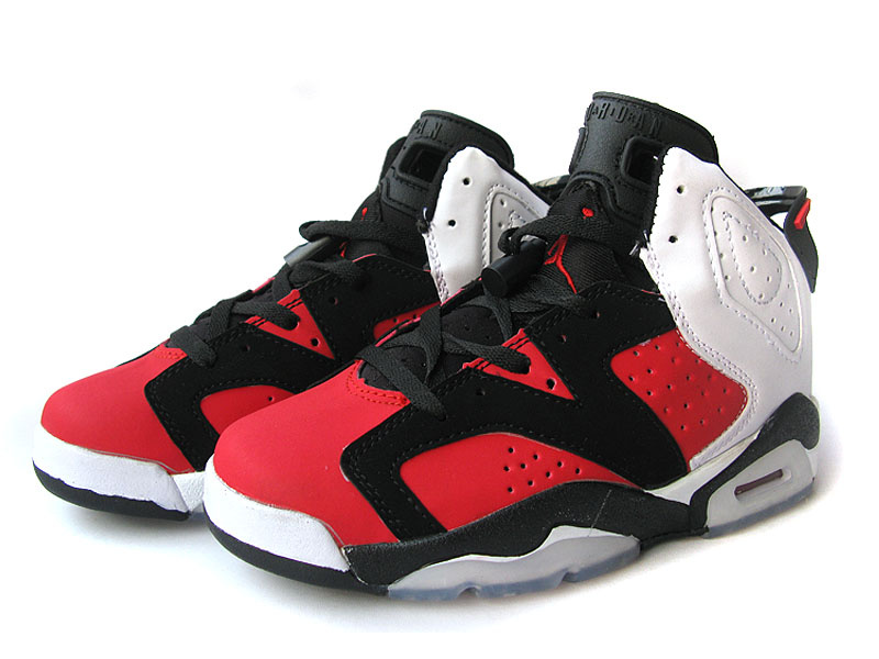 Nike Jordan 6 Retro Black Red White For Women