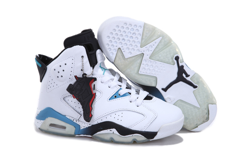 Nike Jordan 6 White Blue Black For Women