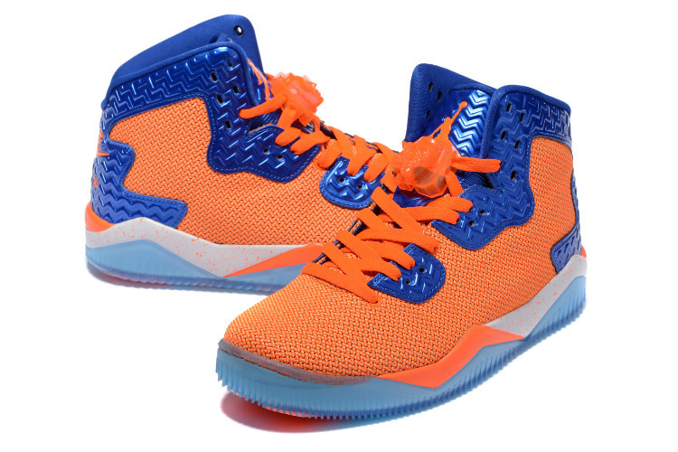 on sale cc502 42f0a 2016 Nike Jordan Spizike 2 Orange Blue Shoes