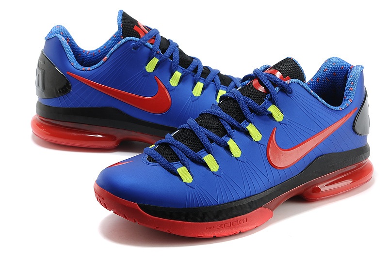 2014 Kevin Durant 5 Shoes Low Blue Red Black Shoes