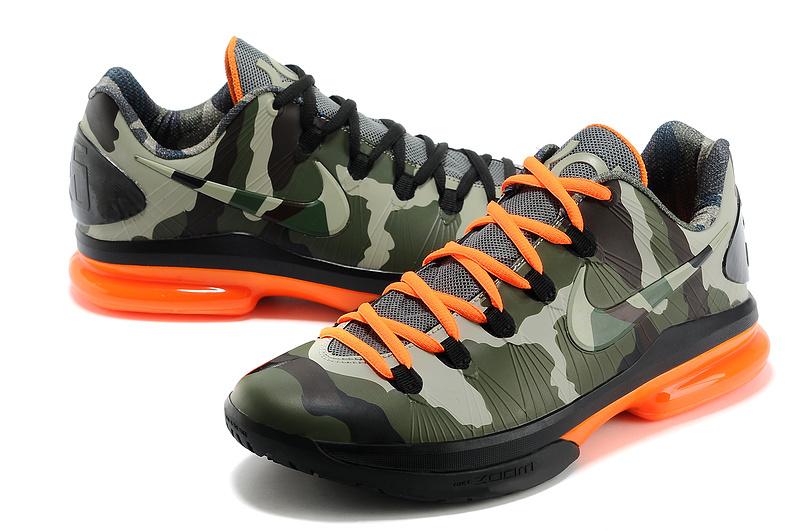 b0e5e8dc537f 2014 Kevin Durant 5 Shoes Low Camo Orange Shoes