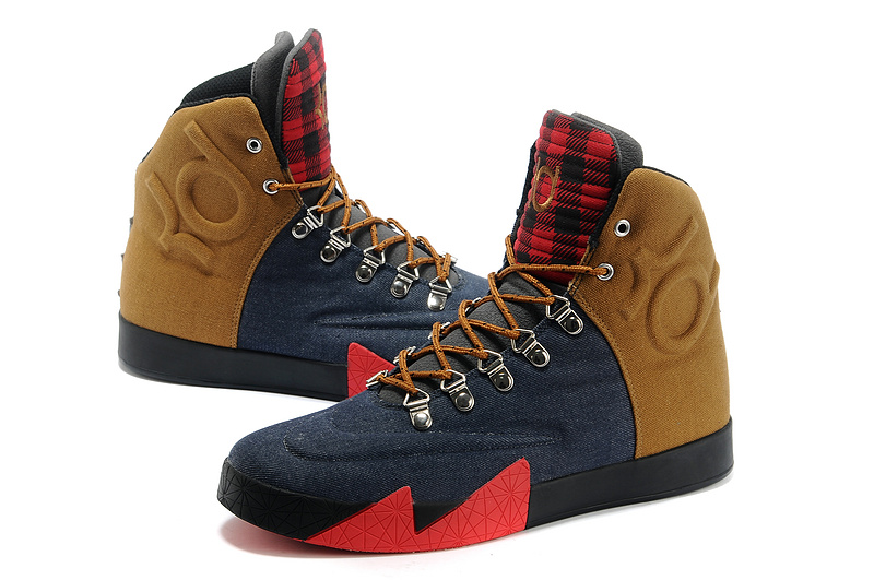 Nike Kevin Durant 6 NSW Lifestyle Black Brown Red Shoes