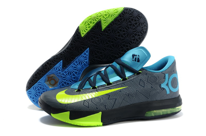 2014 Nike Kevin Durant 6 Grey Blue Black Yellow