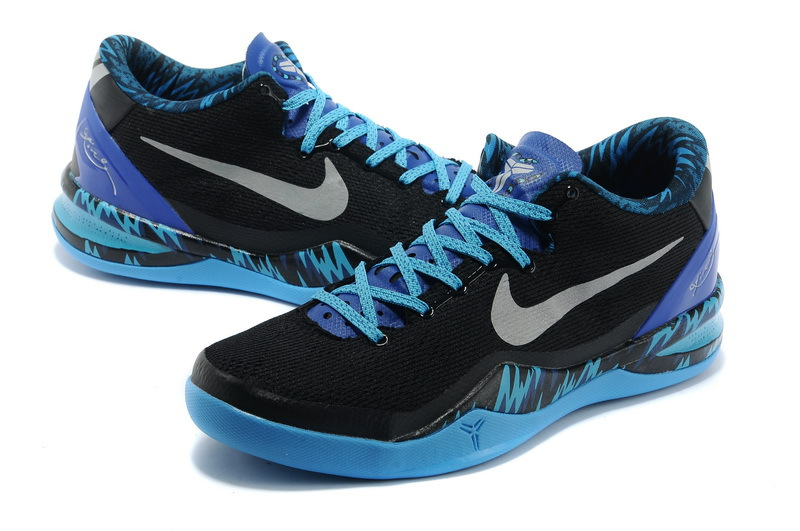 Latest Nike Kobe Bryant 8 Black Blue Shoes